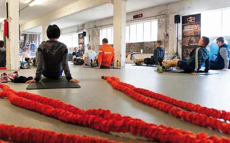 groep training in een sportzaal